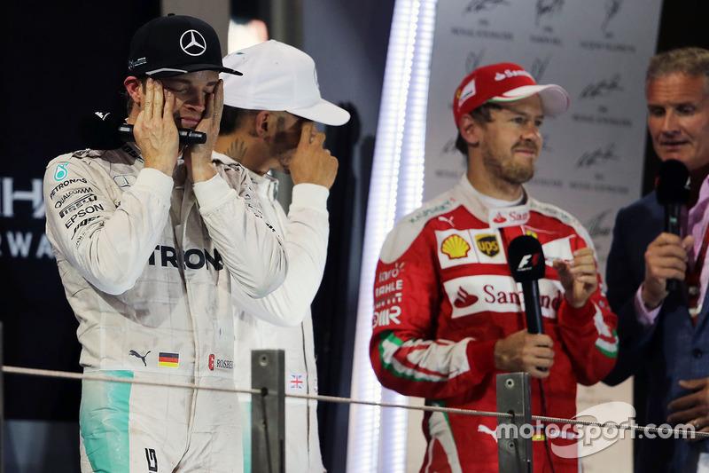 Nico Rosberg, Mercedes AMG F1 celebra su campeonato del mundo en el podio
