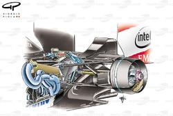 Toyota TF106B 2006 rear suspension