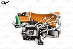 Force India VJM04 front brakes