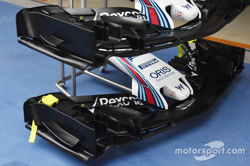 Williams FW40 front wings detail