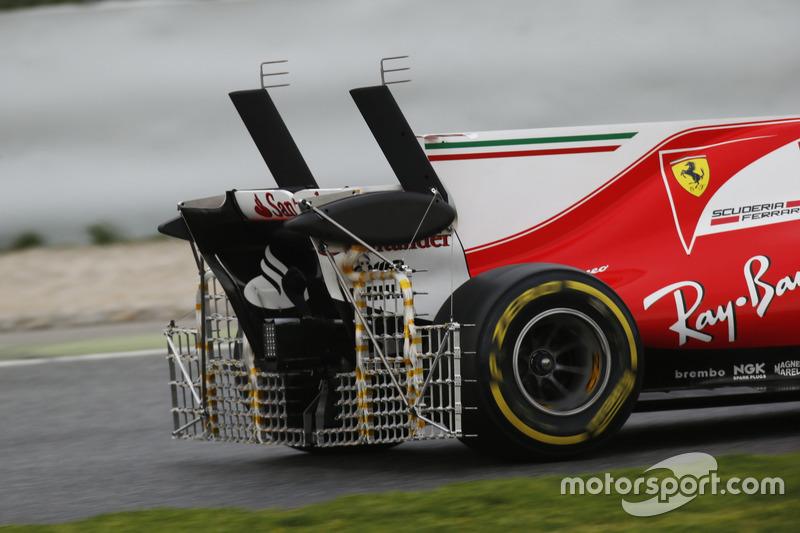 Sensores en la parte trasera de Kimi Raikkonen Ferrari SF70H