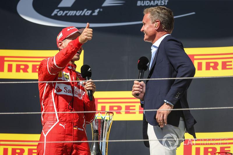 Подіум: переможець Себастьян Феттель, Ferrari, Девід Култхард