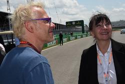 Jacques Villeneuve, Sky Italia with his Mother Joann Villeneuve