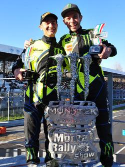 I vincitori Valentino Rossi, Carlo Cassina, Ford Fiesta WRC