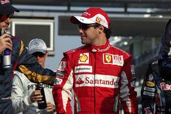 Jaime Alguersuari, Toro Rosso STR5 Ferrari, and Felipe Massa, Ferrari F10