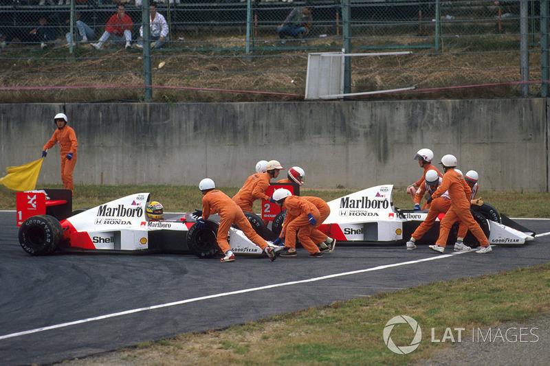 2: Alain Prost & Ayrton Senna (McLaren)