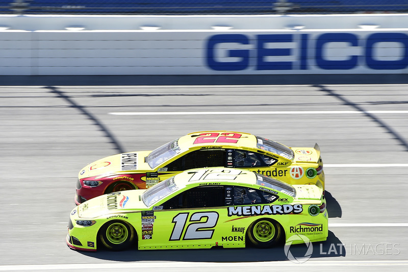 Ryan Blaney, Team Penske, Ford Fusion Menards/Richmond, Joey Logano, Team Penske, Ford Fusion Shell Pennzoil