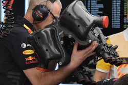Red Bull Racing RB14 engine cover detail