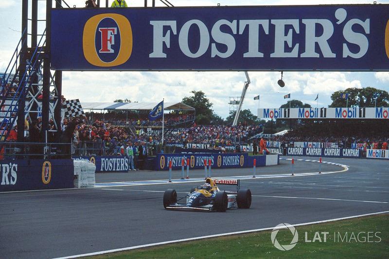 Race winner Alain Prost, Williams FW15C
