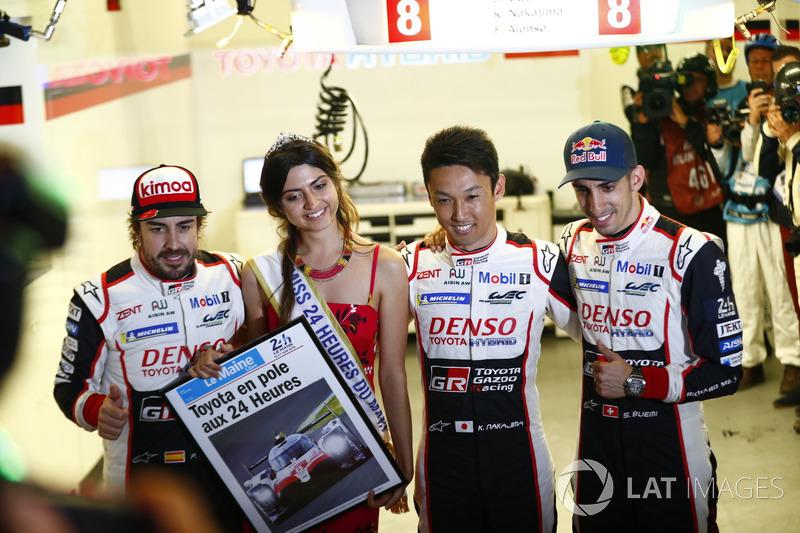 Pole position for #8 Toyota Gazoo Racing Toyota TS050: Sébastien Buemi, Kazuki Nakajima, Fernando Alonso