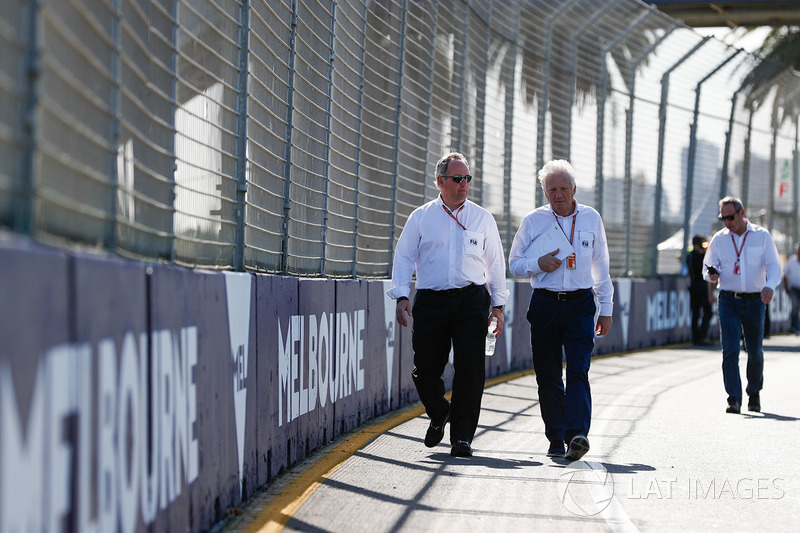 Track walk with Charlie Whiting, FIA Race Director