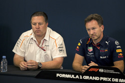 Zak Brown, McLaren Racing CEO and Christian Horner, Red Bull Racing Team Principal in the Press Conference