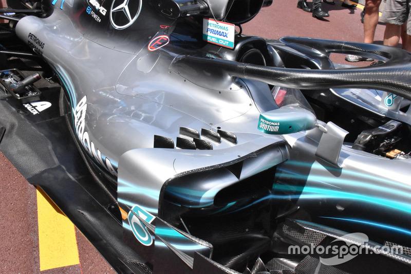 Pontons de la Mercedes-AMG F1 W09