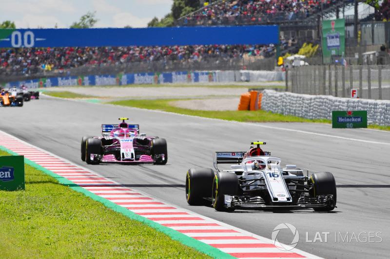 Charles Leclerc, Sauber C37 alla partenza della gara