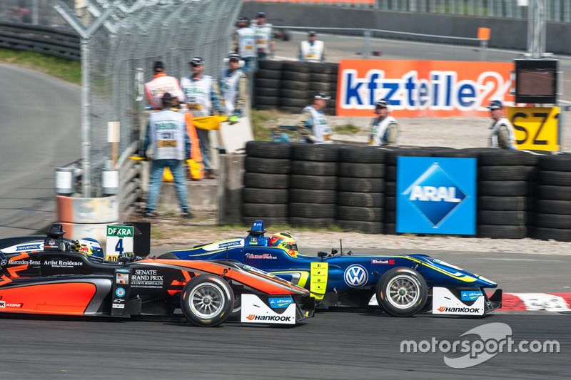 Harrison Newey, Van Amersfoort Racing Dallara F312 - Mercedes-Benz, Alessio Lorandi Carlin Dallara F