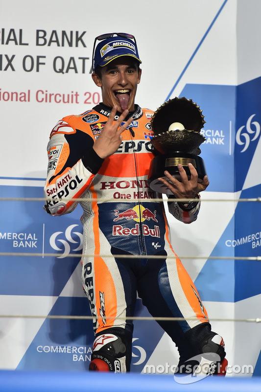 Podium : le troisième Marc Marquez, Repsol Honda Team, Honda