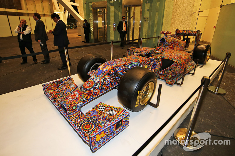 Une show car artistique lors d'un événement Inter / Sahara Force India F1 Team