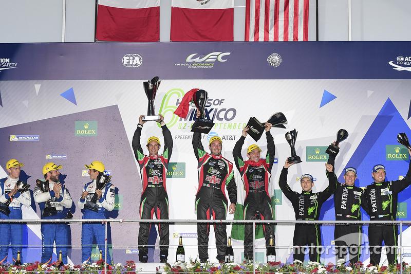 LMP2 podium: first place Ricardo Gonzalez, Filipe Albuquerque, Bruno Senna, RGR Sport by Morand, sec