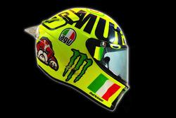 Le nouveau casque de Valentino Rossi, Yamaha Factory Racing