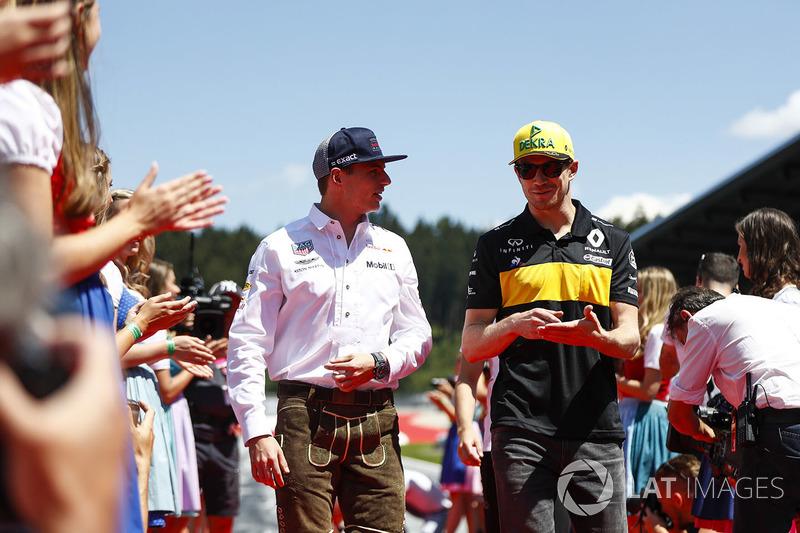 Max Verstappen, Red Bull Racing, Nico Hulkenberg, Renault Sport F1 Team
