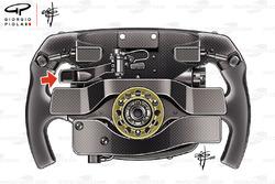 تفاصيل القسم الخلفي لمقود سيارة سيباستيان فيتيل، فيراري اس.اف71اتش