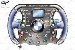 Williams FW26 steering wheel