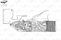 Benetton B201 2001 engine/gearbox packaging