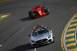 The Safety Car leads Sebastian Vettel, Ferrari SF71H