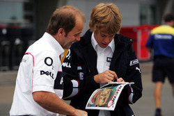Josef Leberer, BMW Sauber Fisioterapeuta con Sebastian Vettel, BMW Sauber Third Driver.