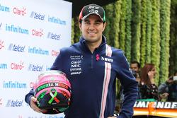 Sergio Perez, Sahara Force India F1 with his new helmet