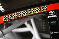 Martin Truex Jr., Furniture Row Racing Toyota win stickers