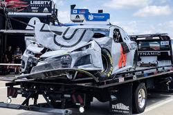 The crashed car of William Byron, Hendrick Motorsports, Chevrolet Camaro