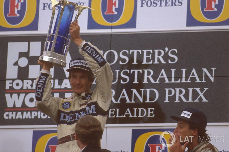 1989 (Аделаїда). Подіум: 1. Тьєррі Бутсен, Williams Renault. 2. Алессандро Нанніні, Benetton Ford Cosworth. 3. Рікардо Патрезе, Williams Renault