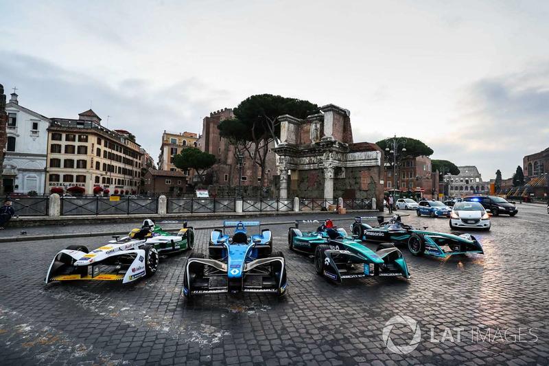 4. Formula E cars line-up