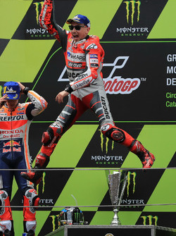 Podium: Race winner Jorge Lorenzo, Ducati Team