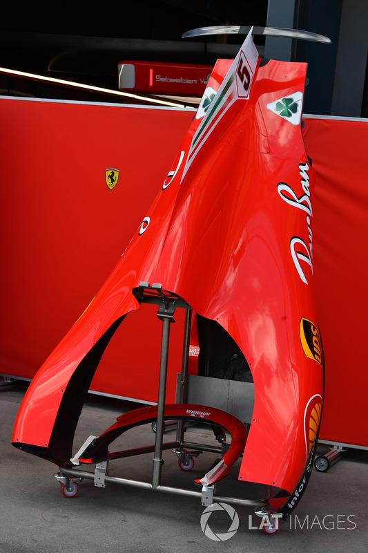 Ferrari SF71H bodywork detail