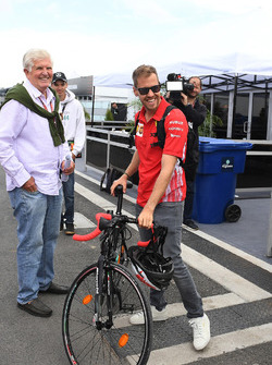 Sebastian Vettel, Ferrari and bike