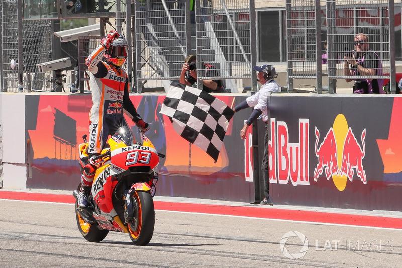 El ganador de la carrera Marc Marquez, Repsol Honda Team