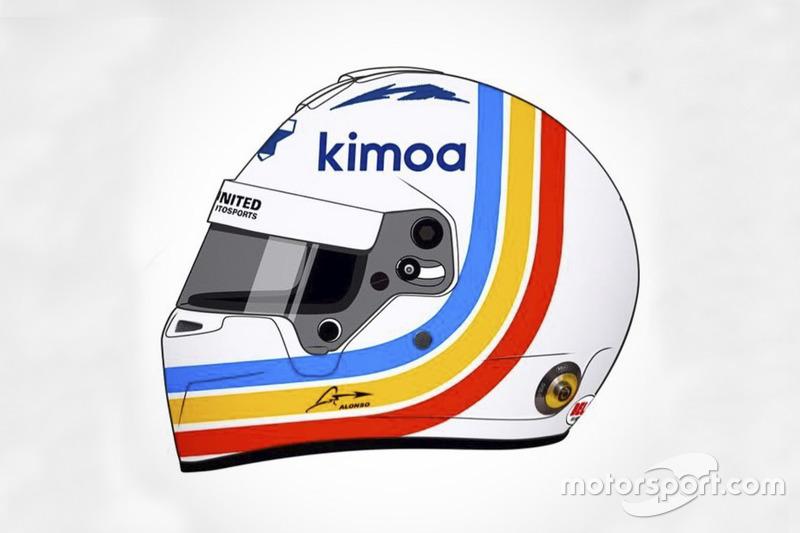 Fernando Alonso'nun Daytona 24 Saat yarışında kullanacağı kask