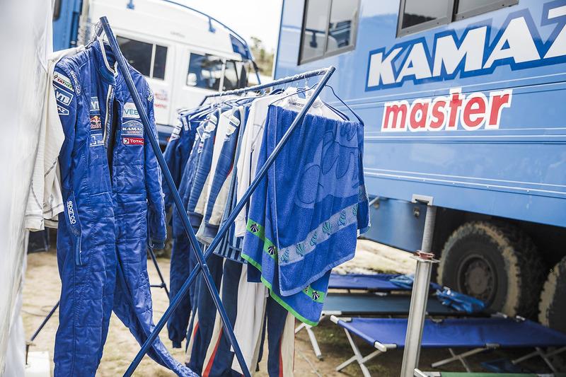Team Kamaz Master en el vivac
