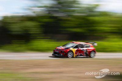 Bottas Citroen WRC testing