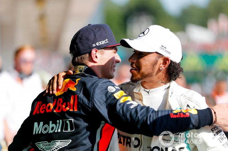 Max Verstappen, Red Bull Racing i Lewis Hamilton, Mercedes AMG F1