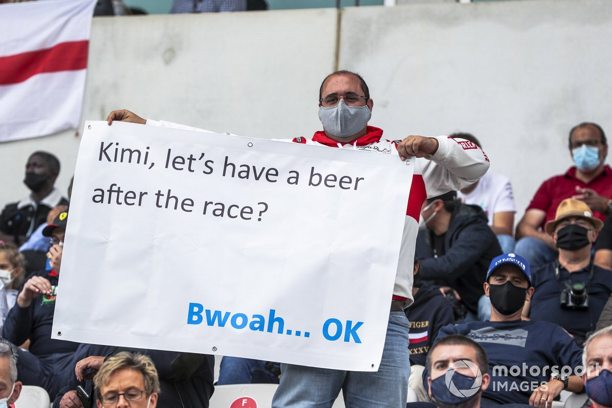 Kimi Raikkonen fan in the grandstand