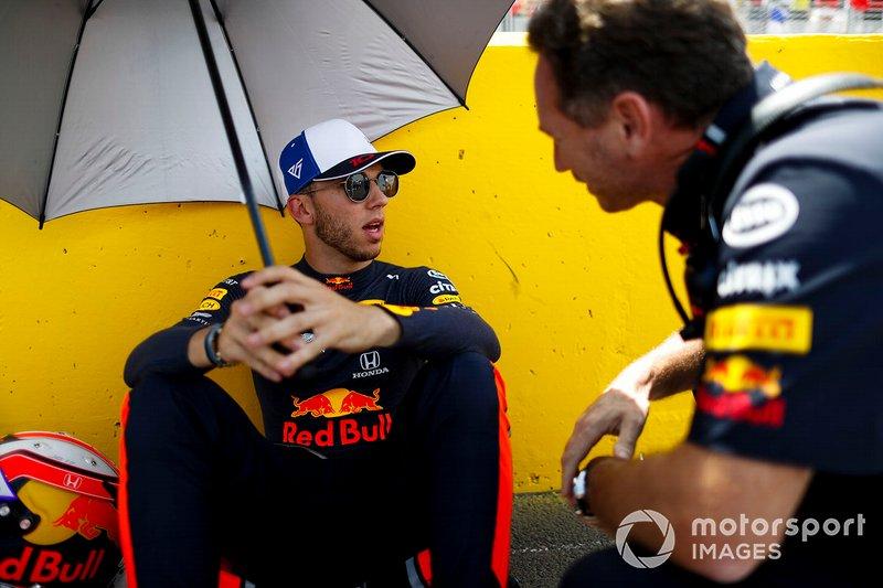 Пьер Гасли и глава Red Bull Racing Кристиан Хорнер