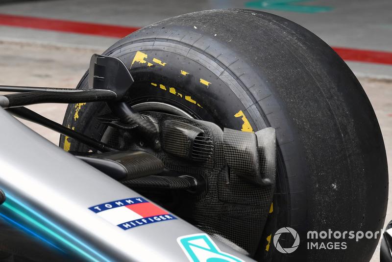 Mercedes-AMG F1 W09 EQ Power+, fékszellőzés, részlet