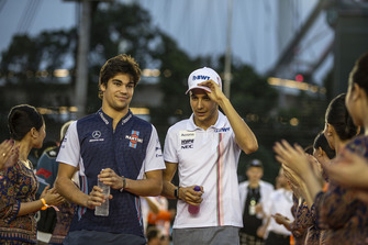 Lance Stroll, Williams Racing and Esteban Ocon, Racing Point Force India F1 Team on the drivers parade