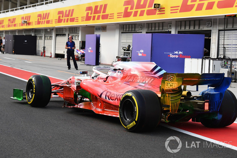 Robert Kubica, Williams FW41 con parafina aerodinámica sobre todo el automóvil