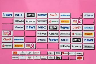 Force India F1 sponsor board