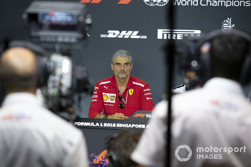 Maurizio Arrivabene, Team Principal, Ferrari in the Press Conference