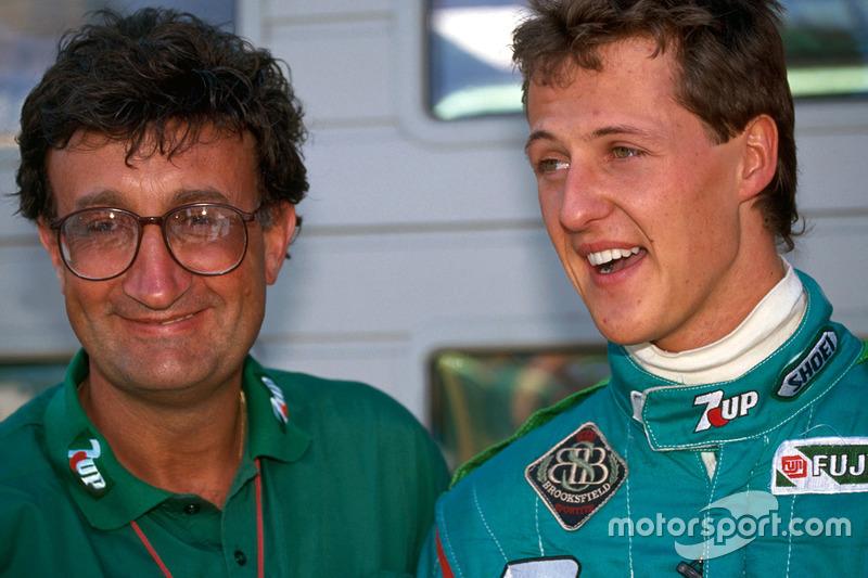 Michael Schumacher avec Eddie Jordan